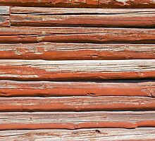 Wall of an log cabin by Kristian Tuhkanen