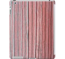 Old red plank wall iPad Case/Skin