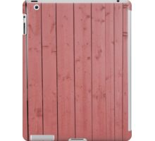 Old red blank wall iPad Case/Skin