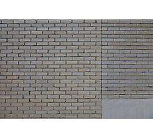White brick wall Photographic Print