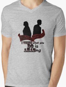 Working With You Mens V-Neck T-Shirt