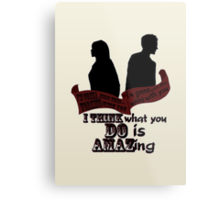 Working With You Metal Print