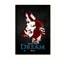 Martin Luther King, Jr. (flag) Art Print