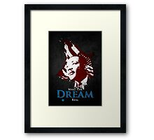 Martin Luther King, Jr. (flag) Framed Print