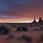 Stormy Sunsrise in Monument Valley by SomeGuyInNJ