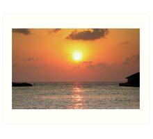 Intense sunset Art Print