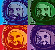 Yuri Gagarin Pop Art  by minjean