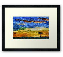 Kenyan Sunrise Framed Print
