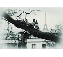 kiss you in Paris Photographic Print