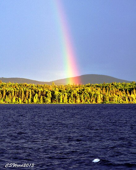 Rainbow Over Eagle Lake by Caleb Ward