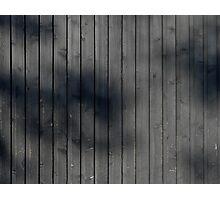 Black plank wall Photographic Print