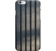 Black plank wall iPhone Case/Skin