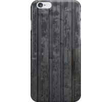 Black plank wall iPhone Case/Skin