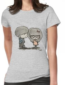 Cute Boy and Girl - LQ Womens Fitted T-Shirt