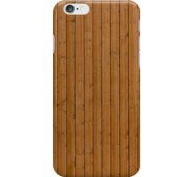 Reddish plank wall iPhone Case/Skin