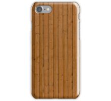 Reddish plank wall iPhone Case/Skin