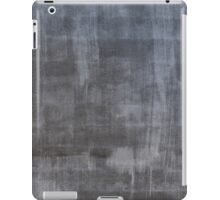 Gray plaster wall iPad Case/Skin