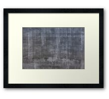 Gray plaster wall Framed Print