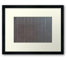 Gray vertical tiles Framed Print