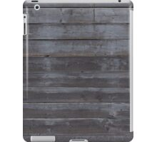 Black plank wall iPad Case/Skin