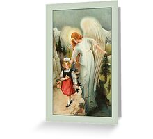 Vintage Angel Card-Angel with Child Greeting Card