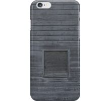 Horizontal blank plank wall iPhone Case/Skin