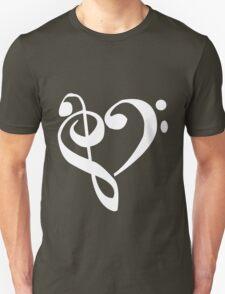 Music Clef Heart Girls funny nerd geek geeky Unisex T-Shirt