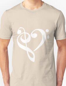 Music Clef Heart Girls funny nerd geek geeky T-Shirt