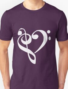 Music Clef Heart Girls funny nerd geek geeky T-Shirt