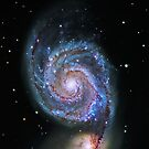 Space M51 Whirlpool Galaxy by Adam Asar