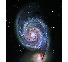 Space M51 Whirlpool Galaxy Photographic Print
