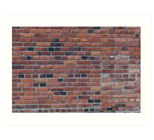Old red brick wall Art Print
