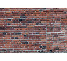 Old red brick wall Photographic Print
