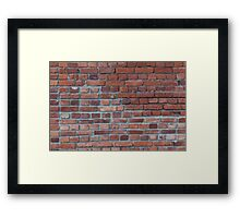 Old red brick wall Framed Print