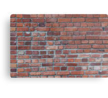 Old red brick wall Metal Print