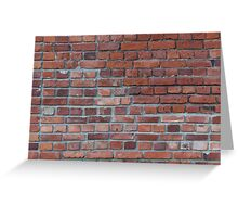 Old red brick wall Greeting Card