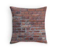 Old red brick wall Throw Pillow