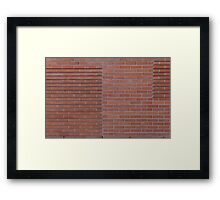 Red brick wall Framed Print