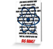The Big Bang Theory Theme song - Black version Greeting Card