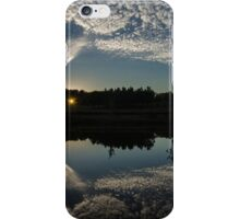panorama sunset through the forest iPhone Case/Skin