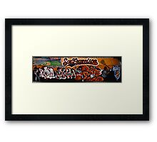 San Francisco Giants Street Mural Framed Print