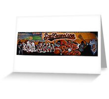 San Francisco Giants Street Mural Greeting Card