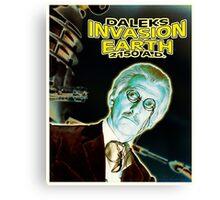 Daleks Invasion Earth Canvas Print