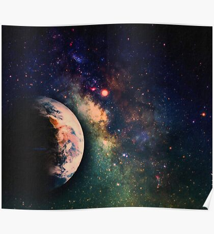 Space  milkyway art Poster