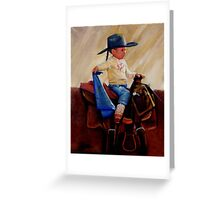 Young Cowgirl Greeting Card