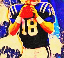 sports  peyton manning art by Adam Asar