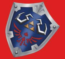 A Legend of Zelda (Right-shoulder Back) Shield Design  One Piece - Short Sleeve
