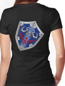 A Legend of Zelda (Right-shoulder Back) Shield Design  Womens Fitted T-Shirt