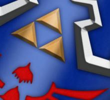A Legend of Zelda (Right-shoulder Back) Shield Design  Sticker