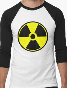 Radiation Hazard Warning Men's Baseball ¾ T-Shirt